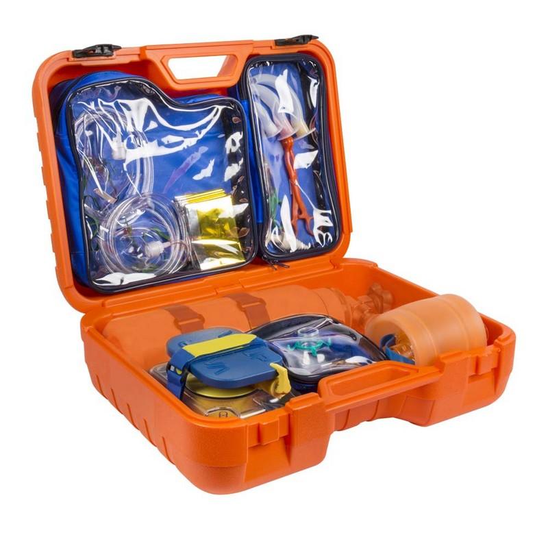 maletín completo de emergencia sin botella de oxígeno