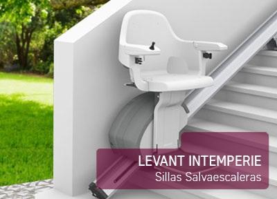 Silla salvaescaleras levant intemperie ortocasa for Silla sube escaleras manual