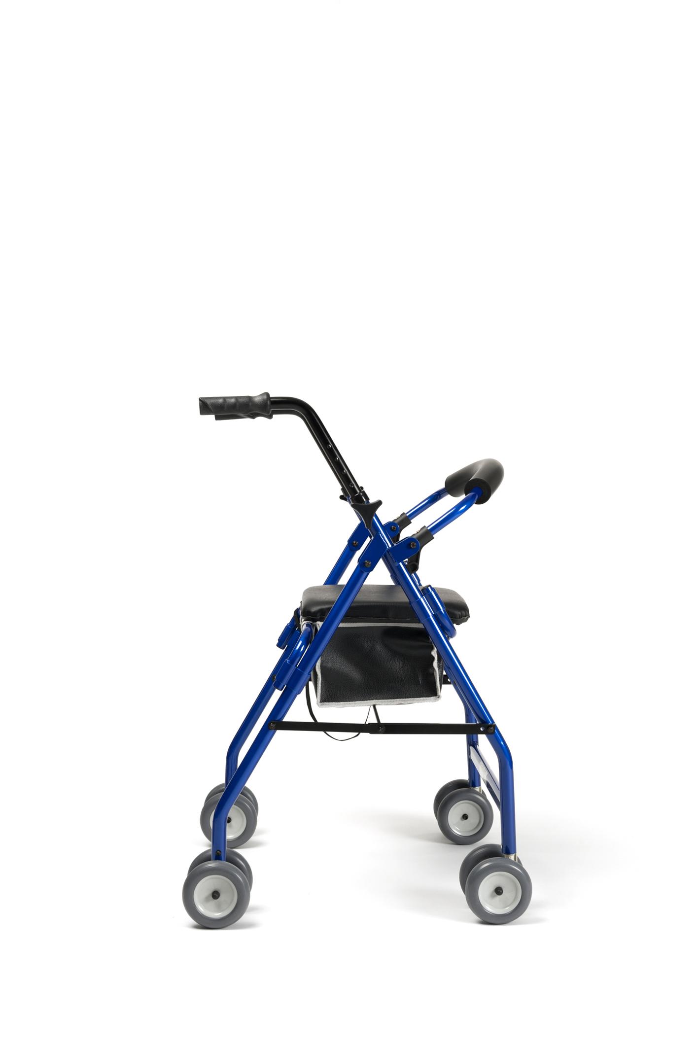 Andador plegable con cesta y asiento de 4 ruedas Rollator Cadeo ...