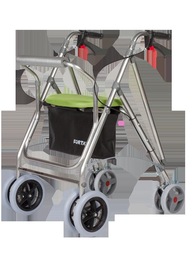 Andador de exterior plegable, regulable con asiento y respaldo ...