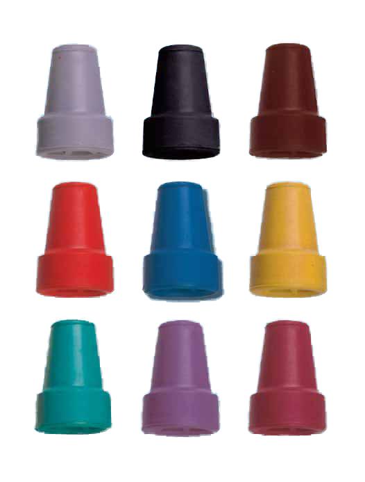 contera de goma de colores para bastones